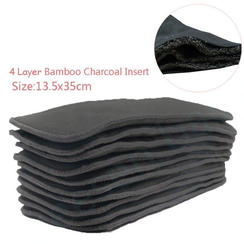 3 PCS Reutilizable Bambú Carbón Insert Pañal de tela Pañal del - Pañales y entrenamiento para ir al baño - foto 2