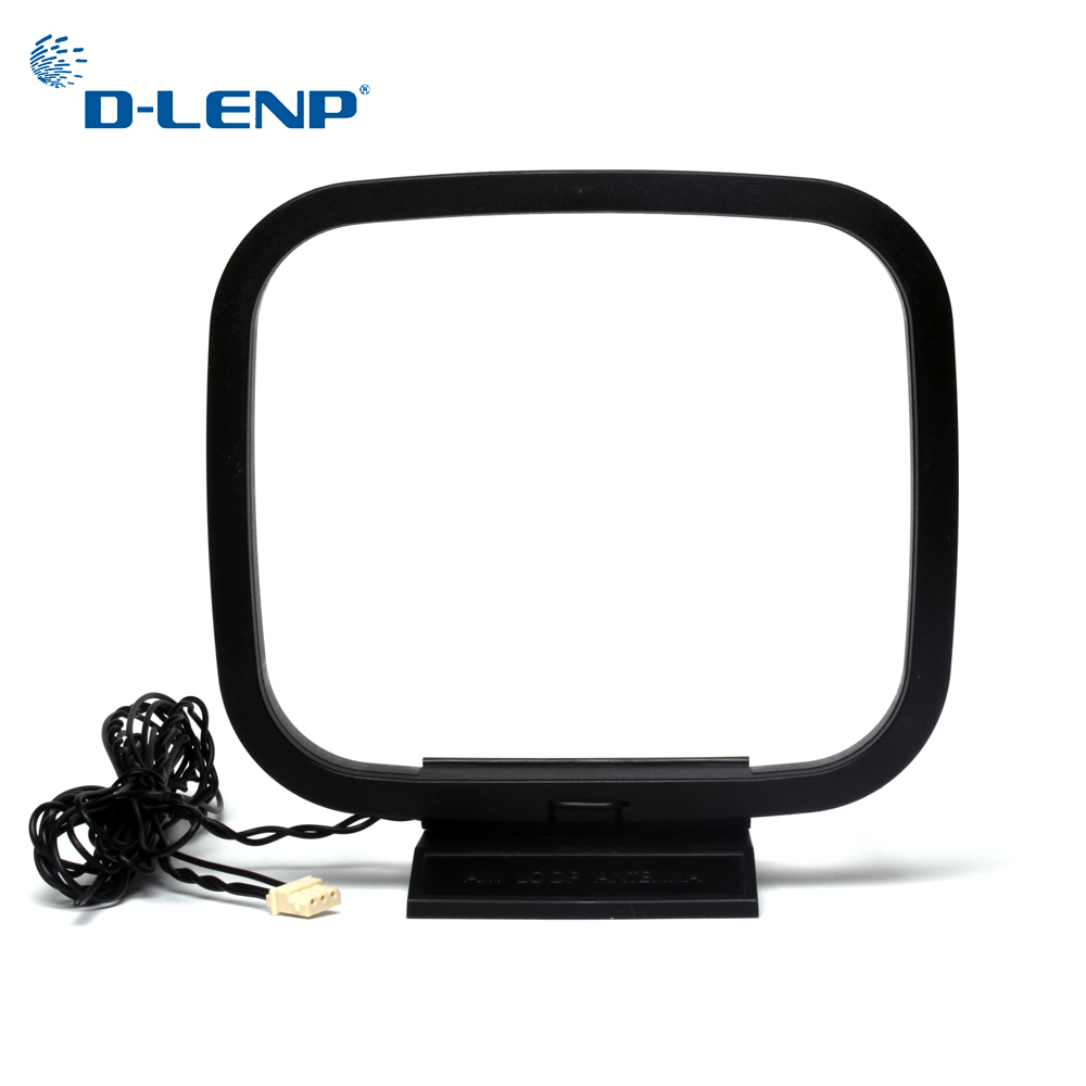 Dlenp 1PCS FM AM Loop Antenna For Receiver With 3-Pin Mini Connector For Sony Sharp Chaine Stereo AV Receiver Systems