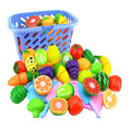 Cute Cutting Fruits Vegetable House Play Toy Children Pretend Play Toys Mini Kitchen Model Toys Plastic Children Birthday Gift