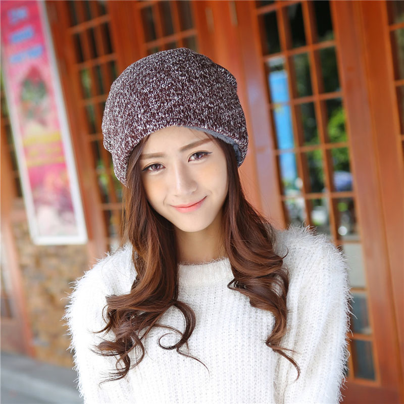 new arrive winter fashion hat for women Plus velvet thickening solid hats casual warm female skullies girls lovely