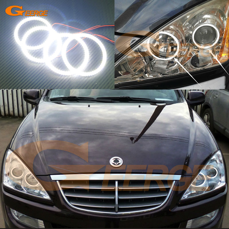 For Ssangyong Kyron 2005-2014 Excellent led Angel Eyes Ultra bright illumination smd led Angel Eyes Halo Ring kit gjlth fyysq автомобиль kyron