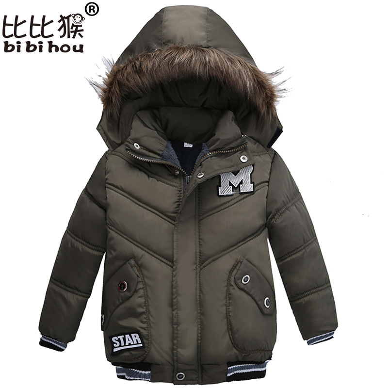 Bibihou Winter Baby Warm Down Coat Baby Boys Girls Coat Jacket Hooded Long Sleeve Children Solid Kids Outerwear Fashion Snowsuit high quality children winter outerwear 2017 baby girls down coats jacket long style warm thickening kids outdoor snow proof coat