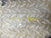 xin002# feather pattern sequin floral mesh tulle lace for wedding/evening dress/party,multi color