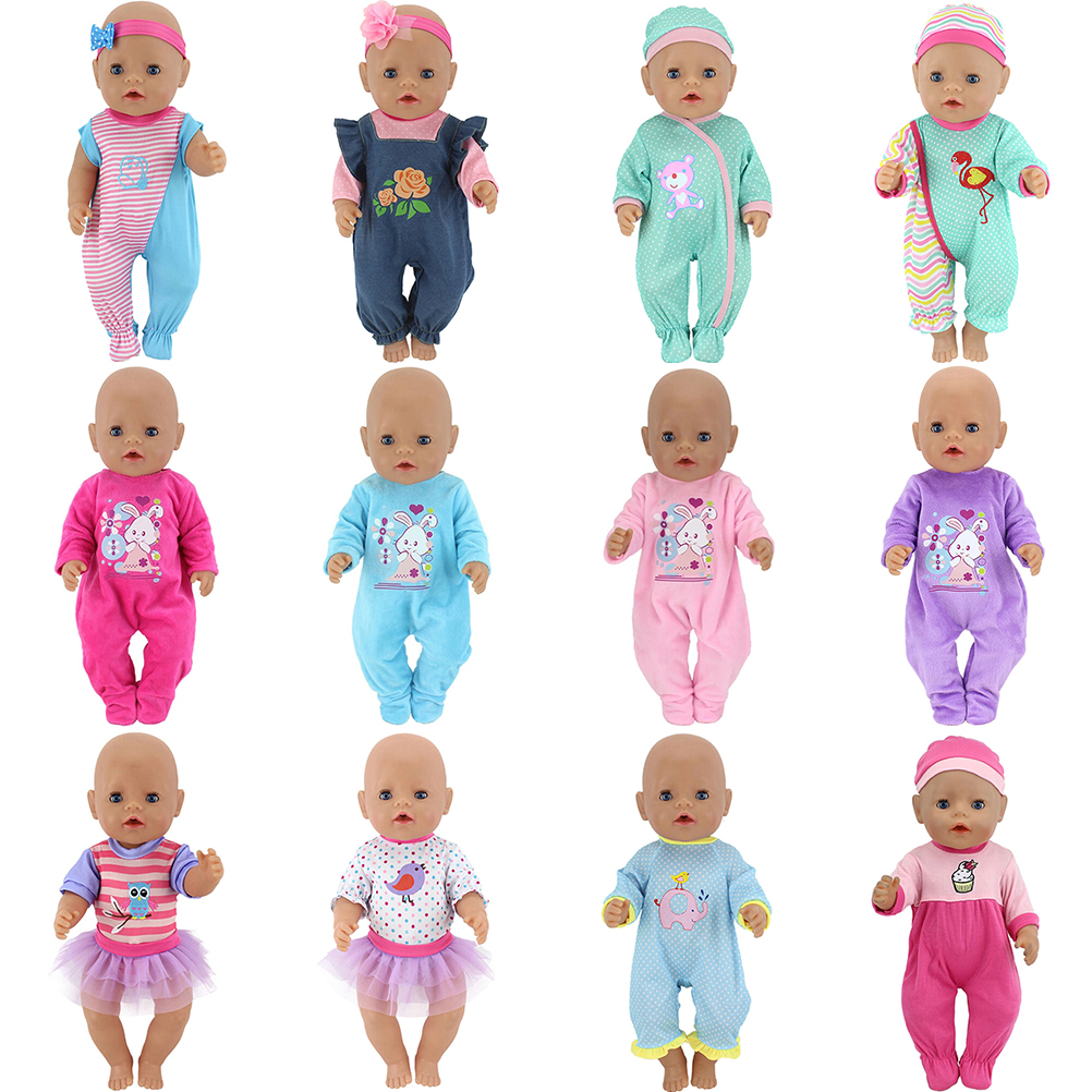 Jumpsuits+hat Clothes Wear Fit 43cm Baby Born Zapf, Children Best Birthday Gift Baby Born Doll Clothes Hot Style baby born doll clothes for 43cm zapf doll accessories japan fashion print dress outfit children birthday gift 055