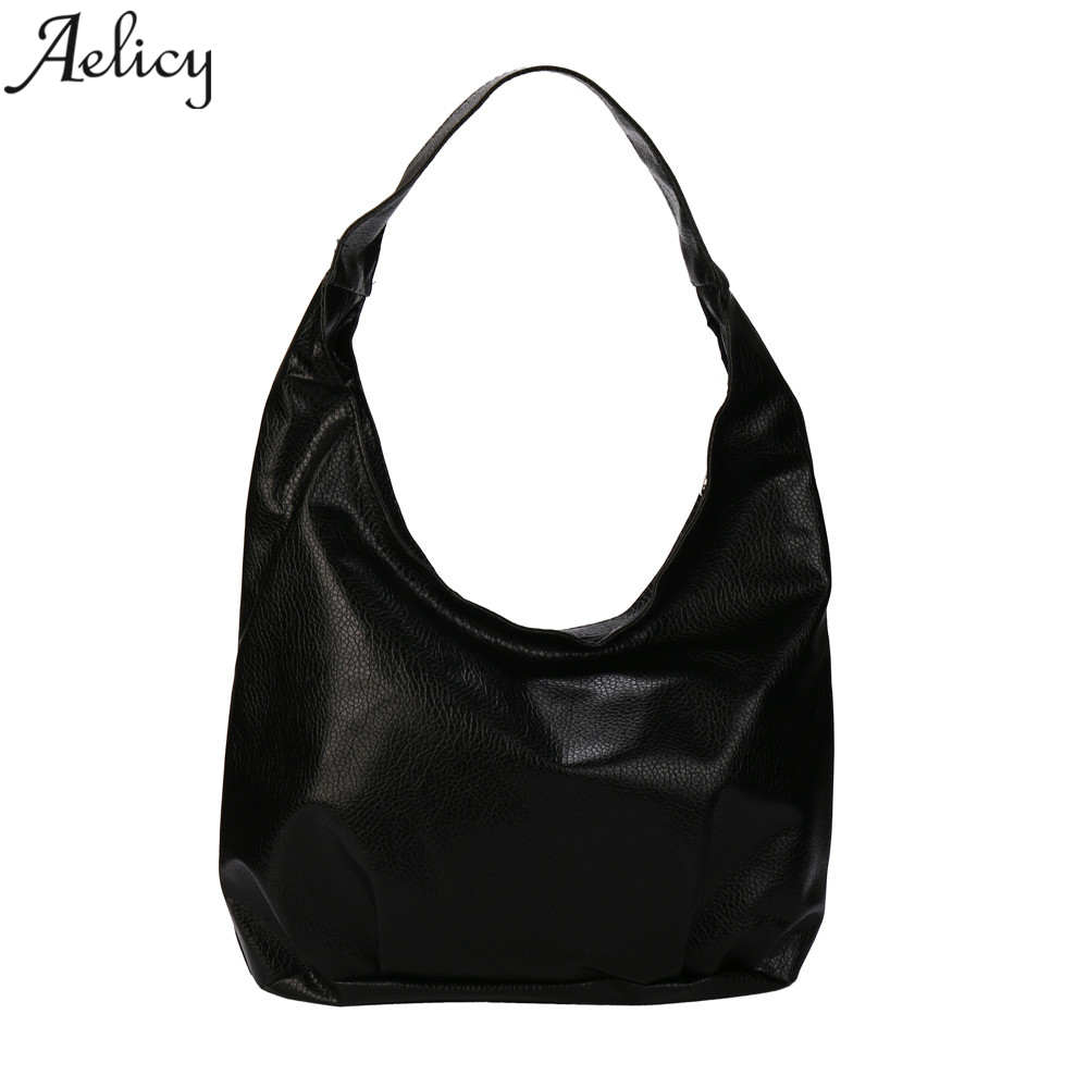 Aelicy High Quality Famous Brands Totes Bag Leather Shoulder Bag Vintage Female Big Size Shoulder Bags for Women Leather Bolsa alieme vintage big shell bag shoulder bag high quality oil wax leather red black brown ladies bags handbags women famous brands
