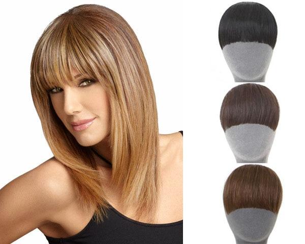 Natural Bang Fringe False Hair Bangs Black Light Brown Dark Brown