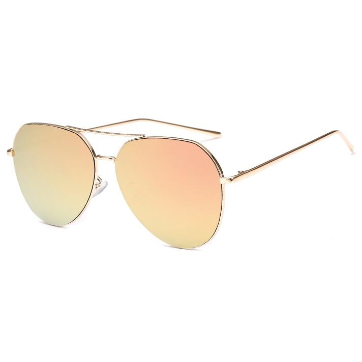 New Fashion Flat Lens Mirror aviation Sunglasses Women Stylish Sun Glasses Lady Men Metal Frame Eyewear High Quality 2