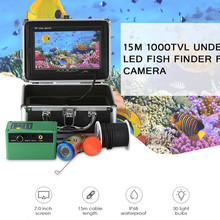 "15m 30m 7""in HD 1000TVL Fish Finder Camera Underwater 30pcs White LEDs / IR Lamps Ice Fishing Video Camera 145 Degree IP68"