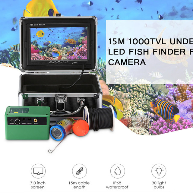 Underwater LED Fish Finder Fishing Camera 7.0 inch Display.