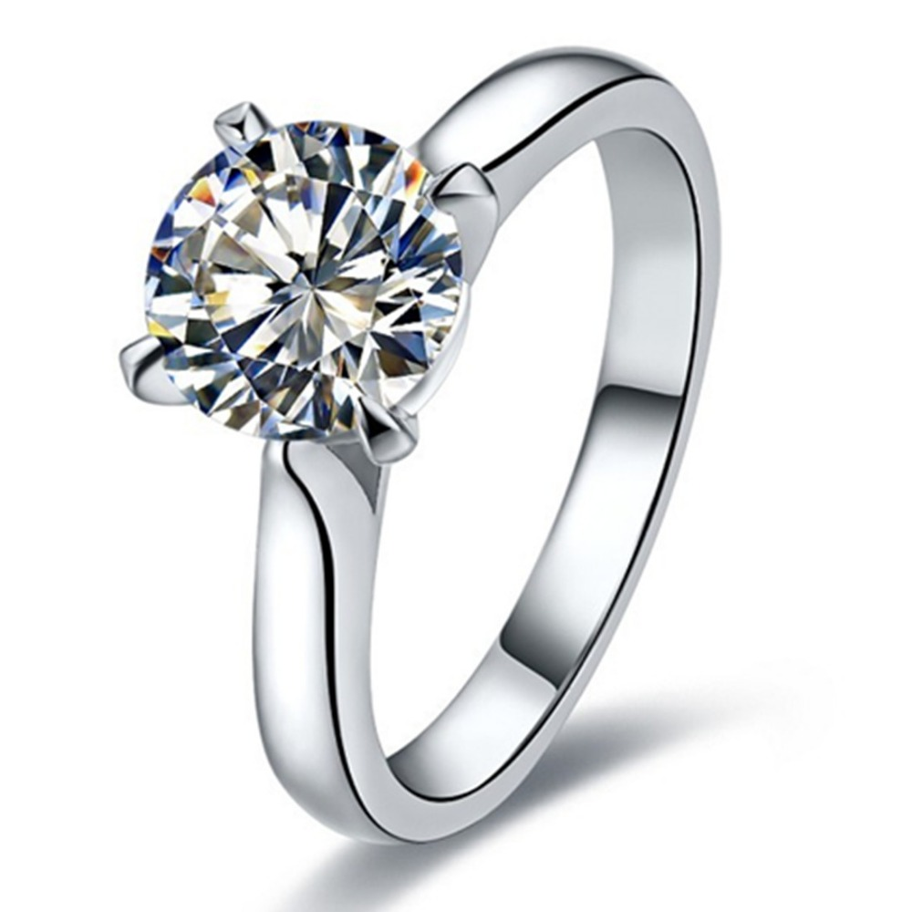 2 ct wholesale jewelry brand ring sona simulate diamond ring solitaire engagement women sterling. Black Bedroom Furniture Sets. Home Design Ideas