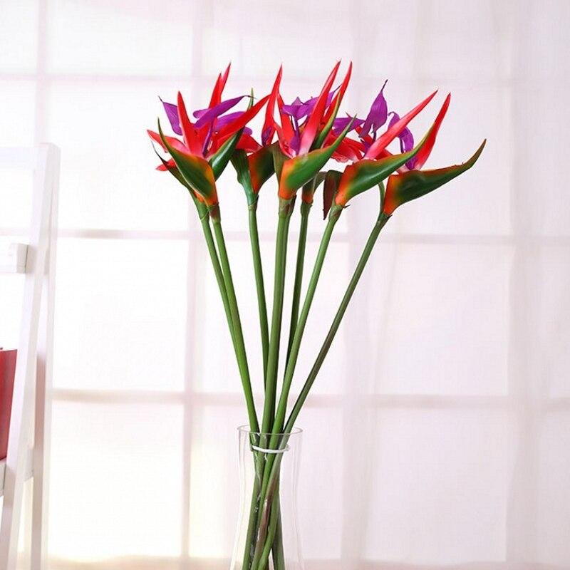 Quality artificial plants 60cm decorative artificial birds PU paradise bird strelitzia reginae mini flowers hawaiian party 1pcs in Artificial Dried Flowers from Home Garden