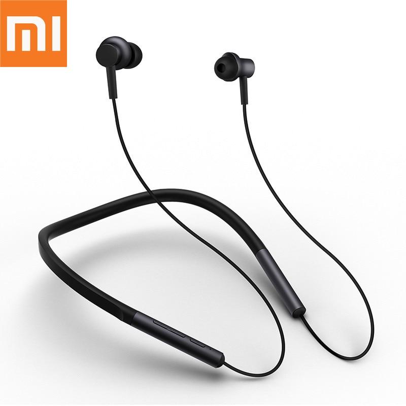 Big Promo Original Xiaomi Mi Bluetooth Neckband Earphones Wireless Apt X Hybrid Dual Cell With Mic For Iphone Samsung Phone