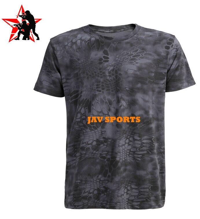 Tigerland SF Tactical T Shirt 95% Cotton In Kryptek Typhon Short Sleeve Military T Shirt+Free shipping(SKU12050317)
