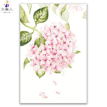 Hydrangea flowers painting pictures by numbers flowers draw coloring by numbers with paint kits framed for living room wall deco(China)