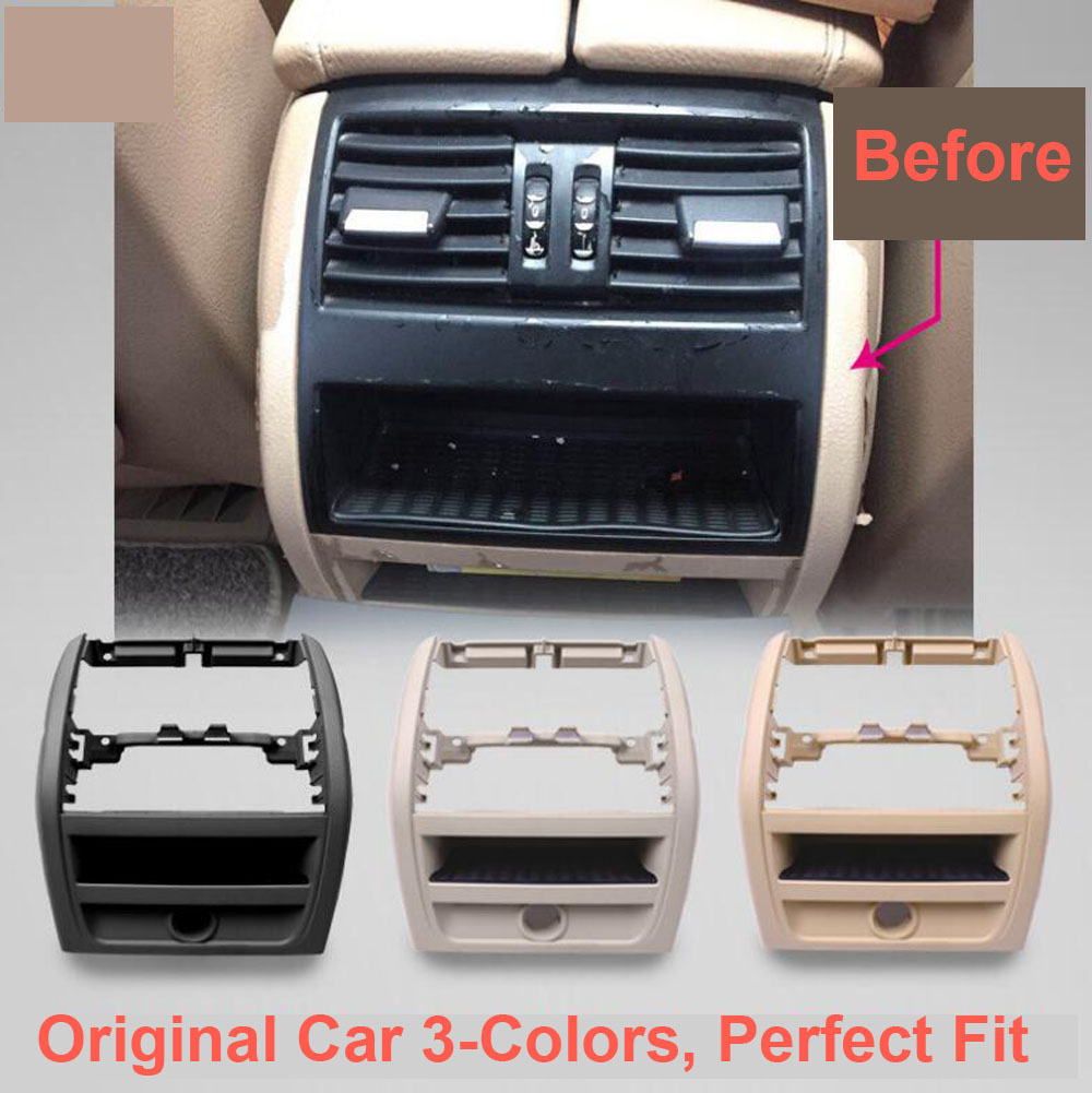 LHD RHD Rear Air Conditioning Vent Grille Outlet Frame Panel Plate For BMW 5 Series F10 F18 520 525 Black Car Styling Good Fits in Air conditioning Installation from Automobiles Motorcycles