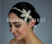 2015 New Wholesale And Retail Fashion Handmade Star Flowers Crystal Beads Bridal Hairbands Wedding Party Hair