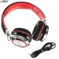 Leory Beste Prijs Stereo 3.5mm Hoofdtelefoon Met Microfoon Headset Voor Smartphone MP3/4 Opvouwbare PC Hoofdtelefoon Hoge Kwaliteit