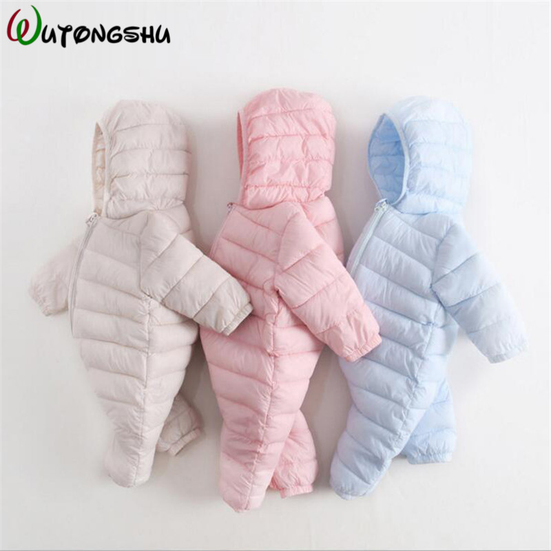 Winter Baby Rompers Overalls Clothes Jumpsuit 6-24Month Warm Newborn Girl Boy Cotton Parkas Snowsuit Infant Snow Wear onepiece baby overalls long sleeve rompers clothing cotton dog anima 2017 new autumn winter newborn girl boy jumpsuit hat indoor clothes