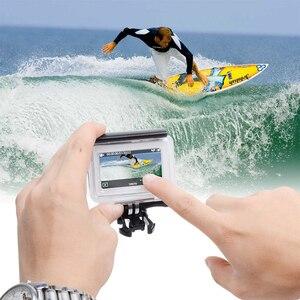 Image 5 - 터치 스크린 방수 케이스 수중 35m 다이빙 보호 쉘 하우징 Xiaomi 이순신 4K 2 II 액션 카메라 액세서리