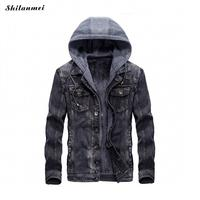 Jeans Jacket Men 2017 New Autumn Men S Denim Jacket Hoodie Winter Fashion Multicolor Hood Thicken