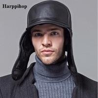 2017 New Year Harppi Genuine Leather Sheepskin Cap Fashion Cap Box Hat Men Brand Cap 100