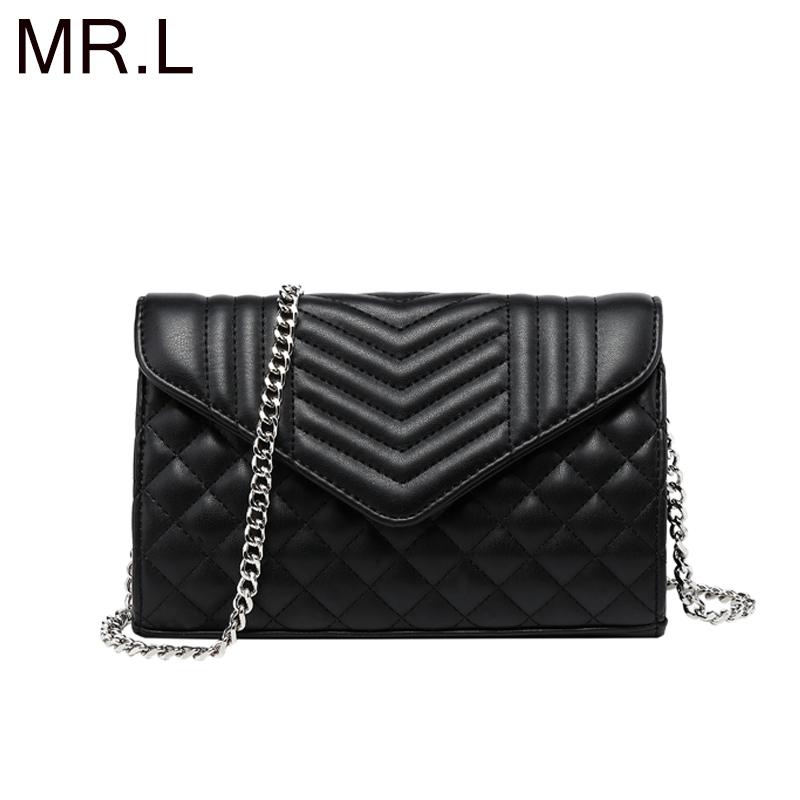 MR L Women Bag Shoulder Bag for Women High Quality Fashion Leather Bags New Diamond Lattice Handbag Ladies Casual Crossbody Bags in Shoulder Bags from Luggage Bags