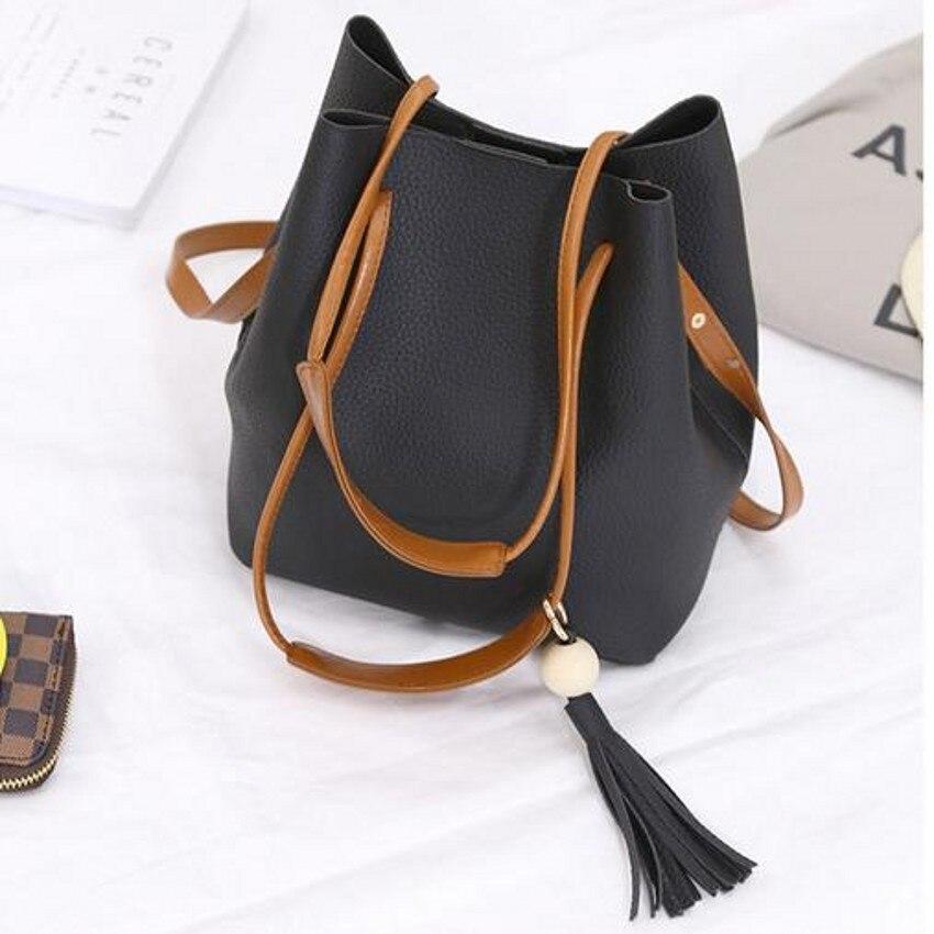 Composite tassel fringe woman messenger bags fashion designers vintage solid leather famous brand handbag bolsas femininas 40