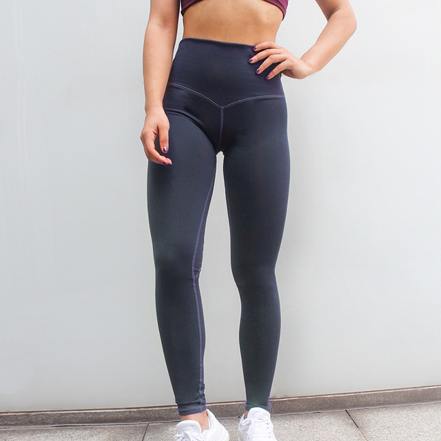 Women Ins Quickly Dry Booty Sexy Slim Capris Fitness Workout Pant Running Leggins Butt High Waist Pink Navy Casual Leggings