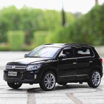 1 32 Diecasts amp pojazdy zabawkowe Tiguan Model samochodu SUV z dźwiękiem i światłem kolekcja samochody zabawkowe dla chłopca prezent dla dzieci tanie i dobre opinie Metal CN (pochodzenie) 3 lat Inne 132c003 1 32 no fire Samochód