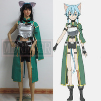 Sword Art Online ALfheim Online Sinon Cosplay Costume Custom Made Any Size