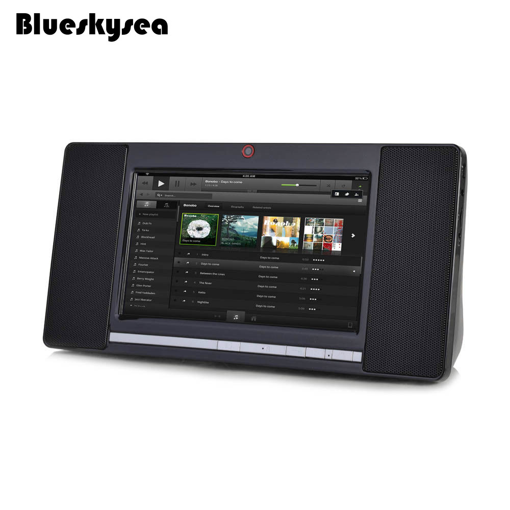 Blueskysea Smart Bluetooth WIFI Speaker Tablet 8G ROM with Front Camera 7 Touch Screen Radio Black
