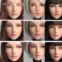 Collectible In Stock 1/6 Beauty European Girl Head Sculpt Carved Model For 12 Pale Skin S01A/S04B/S07C/S10D Action Figure Body