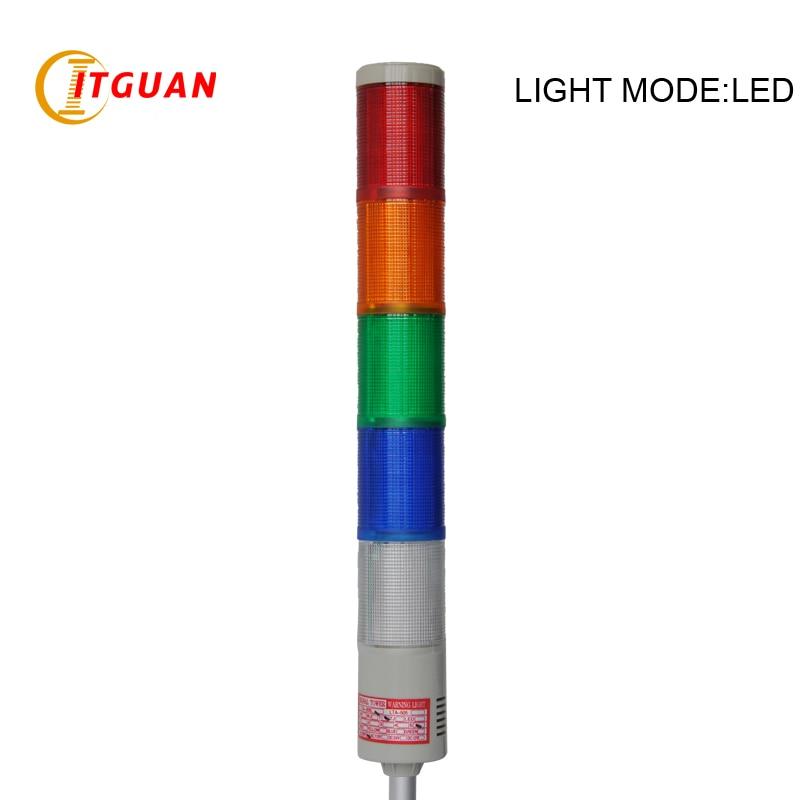 LTA-505 AC220V 5 Layers LED Warning Lamp Emergency machine Strobe Light tower light With Round Bottom ltd 5071 dc12v warning light emergency strobe light warning light