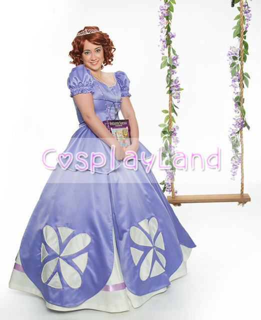 Sofia the First Princess Dress Cosplay Costume for Adult Women Sofia ...