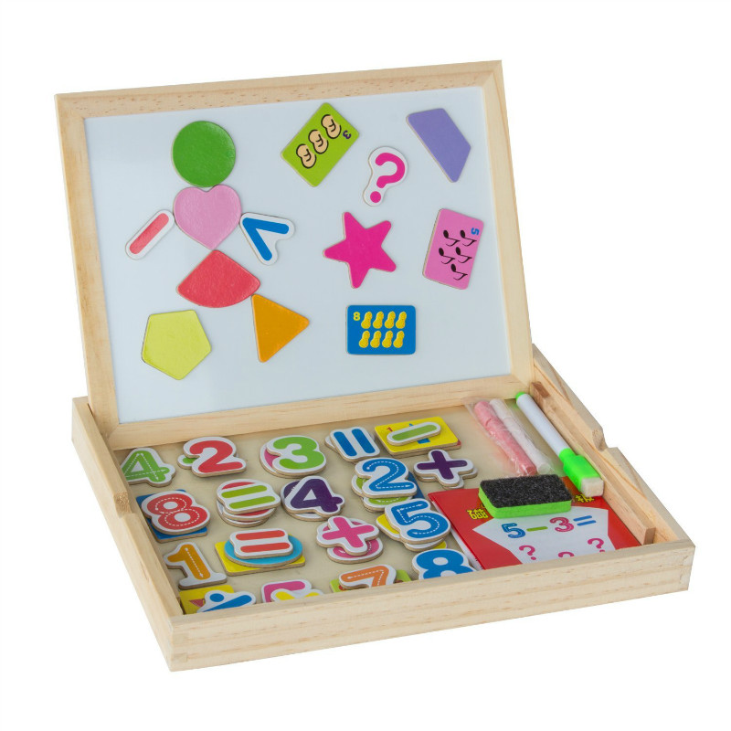 Toddler Learning Toys For 6 : Kids magnetic wooden writing tabletop learning board