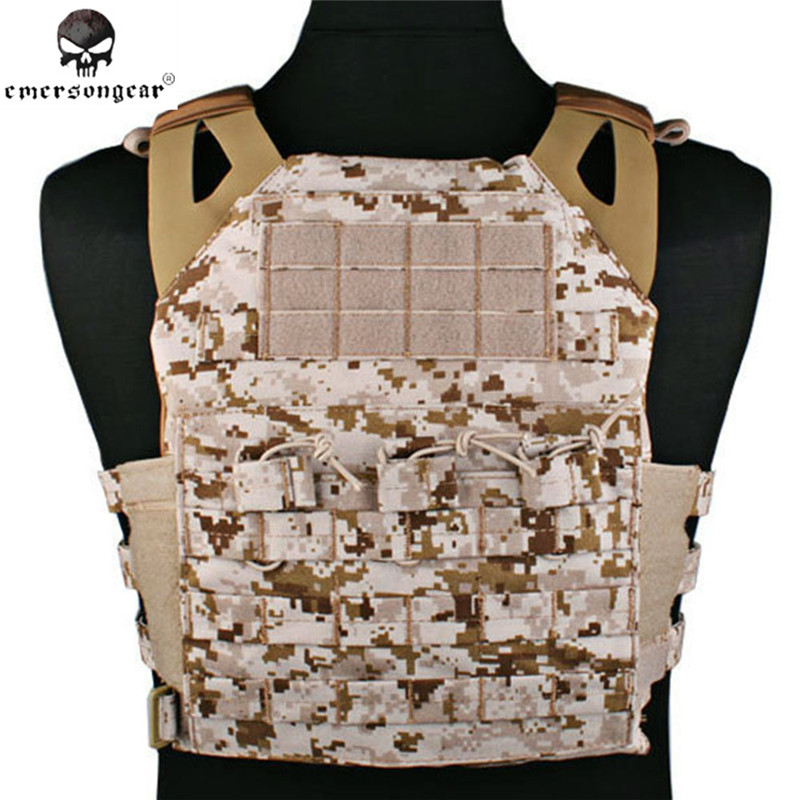 Emerson 500D Molle JPC Vest Simplified Version Military Paintball Hunting Tactical Vest Chest Protective 7074 Foam Plate Carrier стоимость