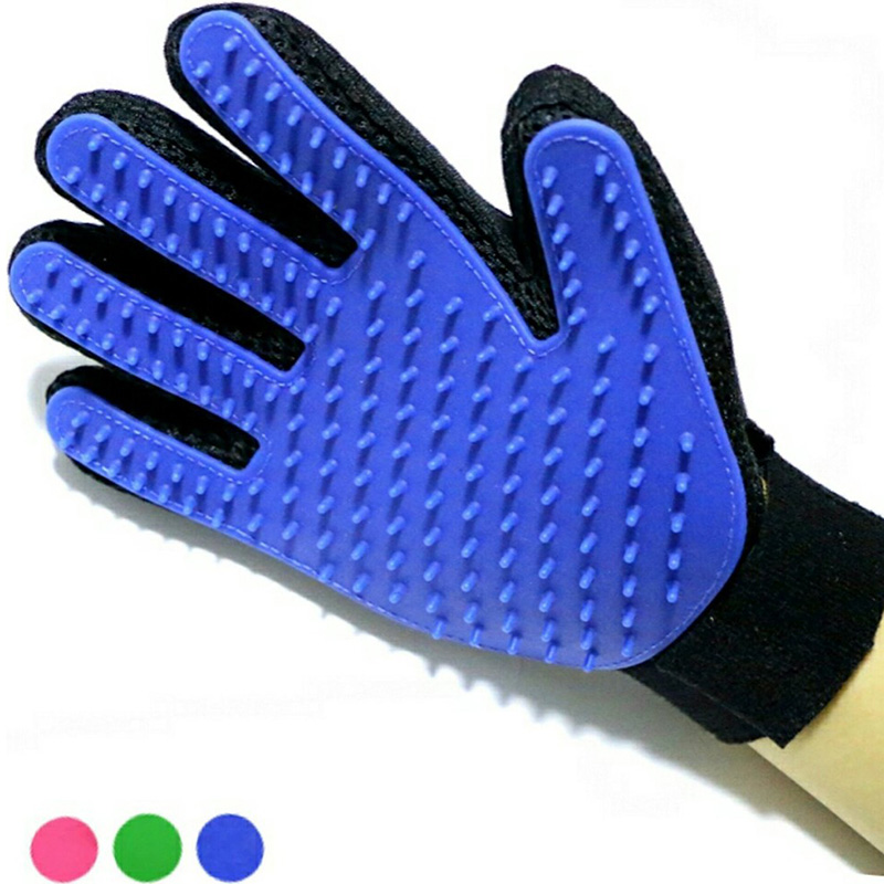 Pet Cat Glove For Cats Grooming Animal Hair Remonal Comb Brush Silicon Glove For Cat Accessories Massage Cat Dog Grooming Supply