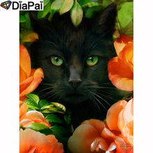 DIAPAI 100% Full Square/Round Drill 5D DIY Diamond Painting Flower and cat Embroidery Cross Stitch 3D Decor A19539
