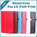 Suporte de couro PU caso inteligente para LG G Pad 10.1 polegada Tablet estilo Flip capa para LG V700 Tablets