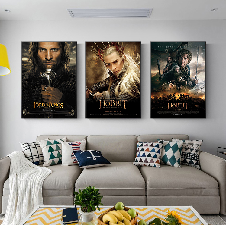 Posters and Prints Classic Lord of The Rings Gandalf Movie Poster On The Wall Pictures for Living Room Wall Decor Teens Gift image