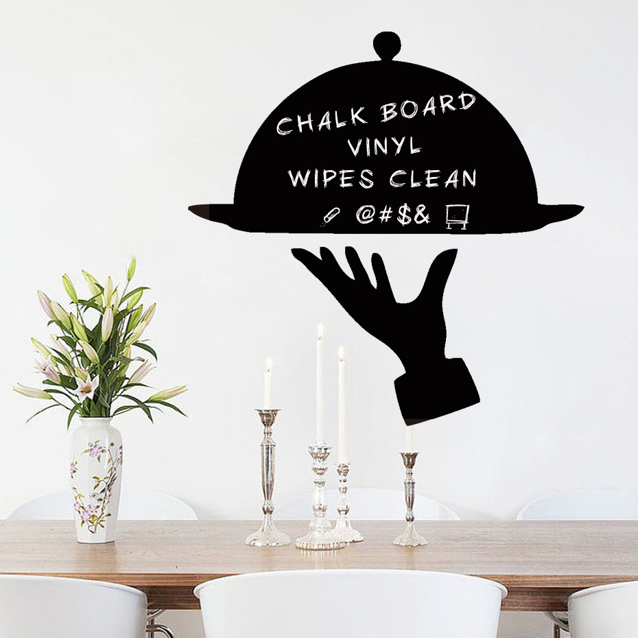 Creative Chalkboard Decal Kitchen Fridge Chalkboard Stickers Vinyl Wall Decal For Refrigerator Dining Room Modern Home Decor