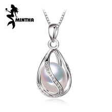 MINTHA Bohemian cage Necklace Pearl Jewelry statement necklaces & pendant Pearl brand fashion 925 sterling silver necklace women
