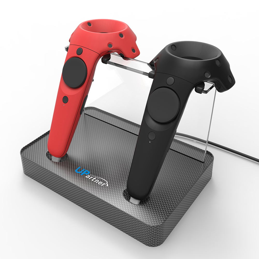 Mocute Magnetic Charging Station for HTC VIVE Controller Gamepad Double Charging Stent Seat Suction Head Charger Gamepad Charger