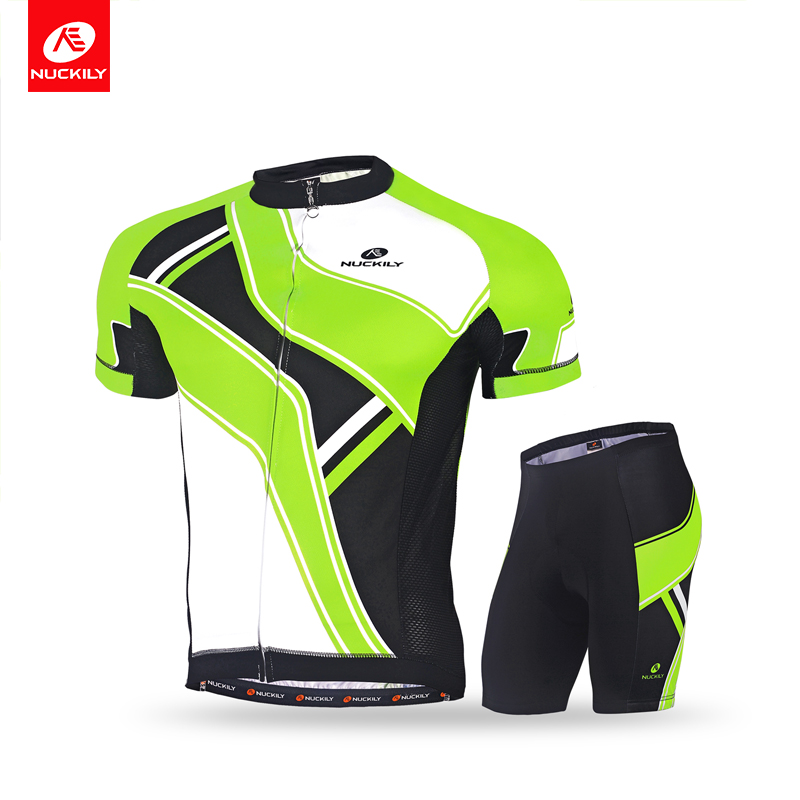 NUCKILY New Ropa Ciclismo Men Cycling Jersey Short-sleeve T-shirt Breathable Shorts Bike Clothing Outdoor MTB Cycling Jersey Set