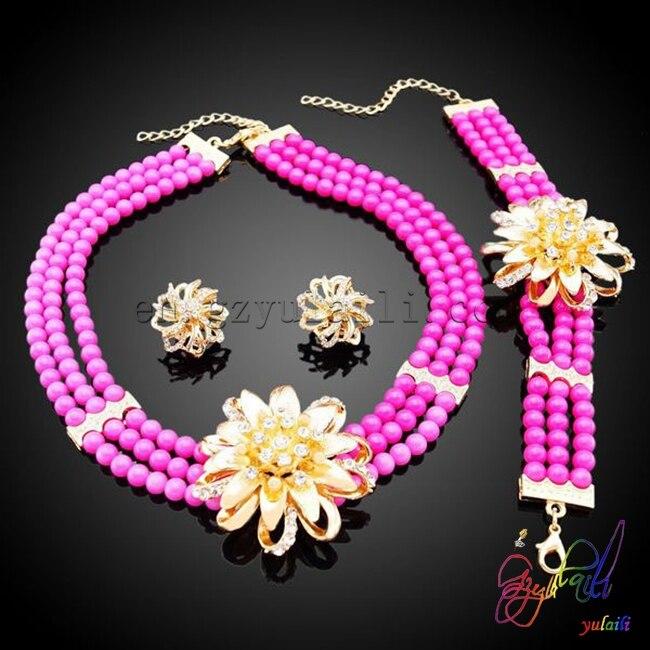 joker gold bead jewelry set latest design beads necklace sets for beautiful womenjoker gold bead jewelry set latest design beads necklace sets for beautiful women