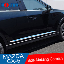 FIT FOR MAZDA CX5 CX-5 KF SERIES 2017 2018 SIDE DOOR BODY MOLDING TRIM COVER LINE GARNISH STICKER ACCESSORIES 4PCS/SET fit for mazda cx5 cx 5 kf series 2017 2018 side door body molding trim cover line garnish sticker accessories 4pcs set
