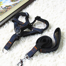 High Quality Nylon Pet Supplier Red/Blue/Black Dog Pet Collar/Harness and Leash Lead Set for Small Medium Dogs