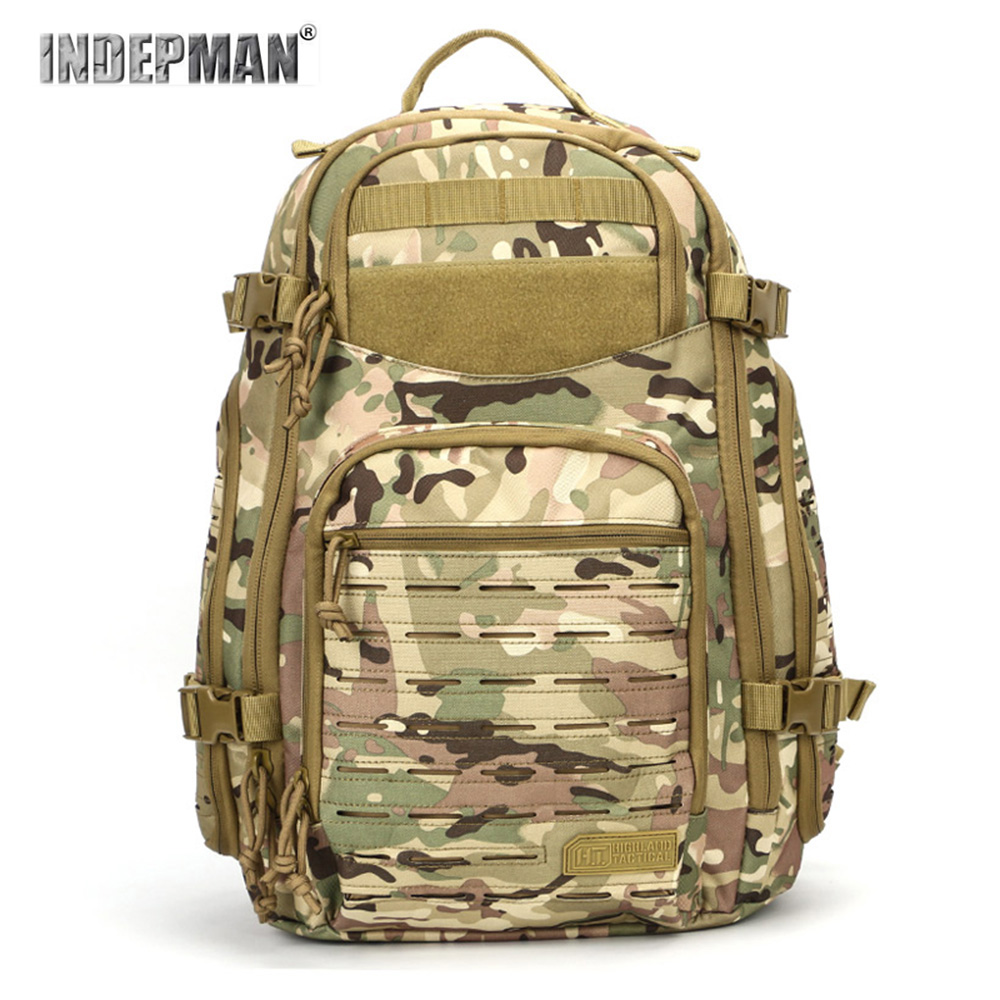 New Rugged Camouflage Tactical Backpack Big Capacity Molle Hanging System Water Sprinkling Resistant Hunting Hiking Rucksacks