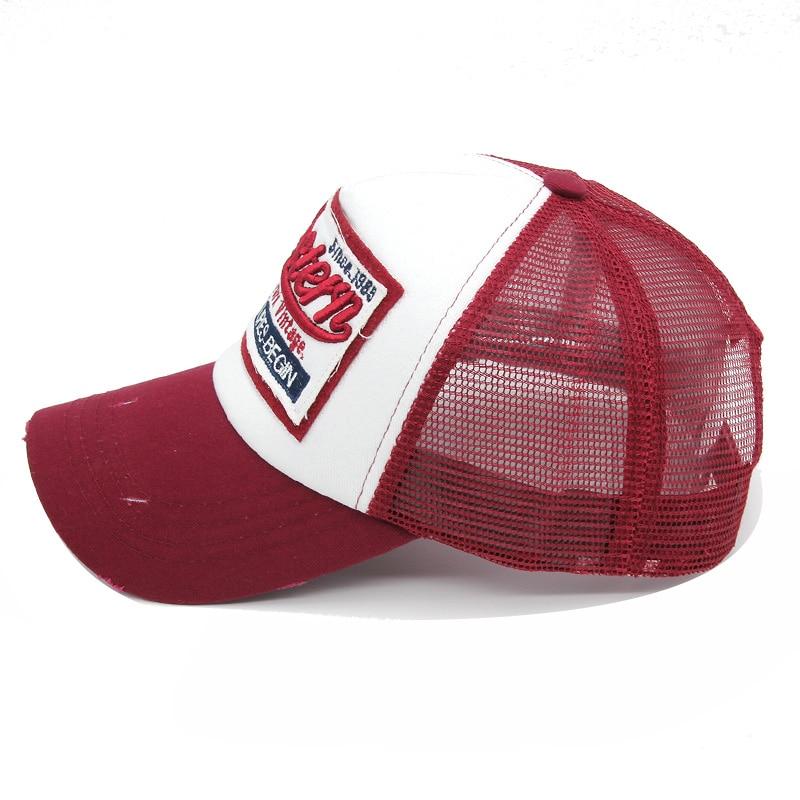 Aliexpress.com  Comprar Gorra de béisbol Xlamulu verano hombres Snapback  bordado malla sombreros para mujeres Casquette Snapback sombrero masculino  Gorras ... 7f1b3b764dc