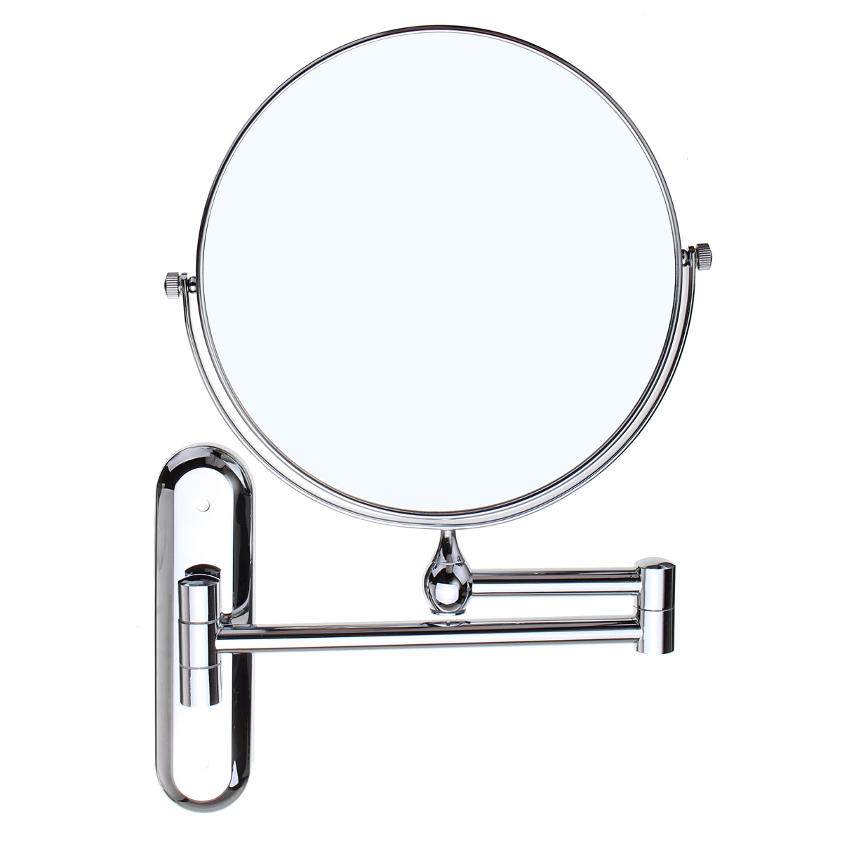 Cosmetic Double-sided 10X Magnifying Mirrors Chrome Round 8